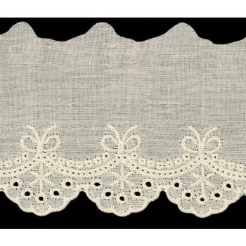 Broderie anglaise coton    65mm
