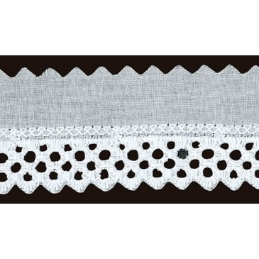 Broderie anglaise coton    35mm