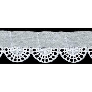 Broderie anglaise coton    32mm