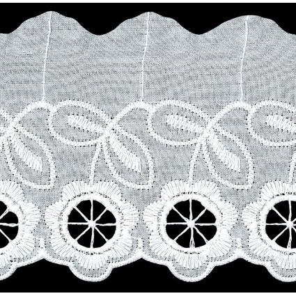 Broderie anglaise coton    75mm