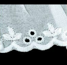 Broderie anglaise froncé   60mm