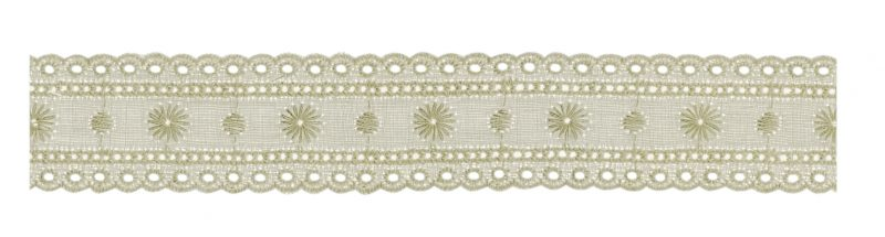 Broderie anglaise coton entre 2 26mm