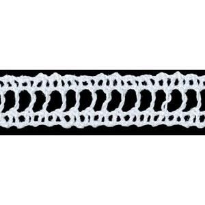Dentelle au fuseau entre deux coton    15mm