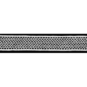Dentelle au fuseau entre deux coton    12mm