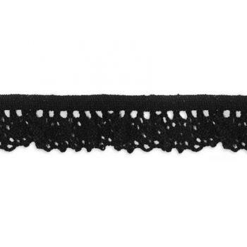 Dentelle au fuseau elastique coton    18mm