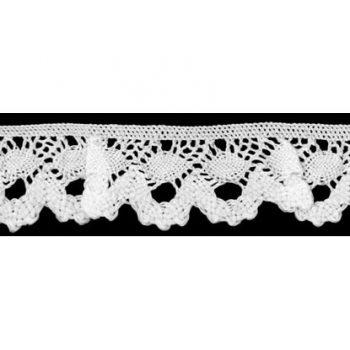 Dentelle au fuseau elastique coton    20mm