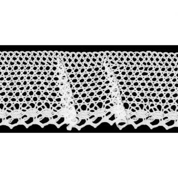 Dentelle au fuseau elastique coton    45mm