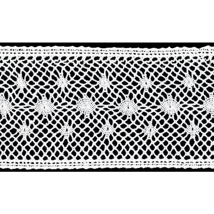 Dentelle au fuseau entre deux coton    80mm