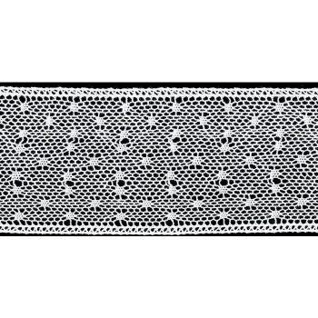 Dentelle au fuseau entre deux coton    60mm