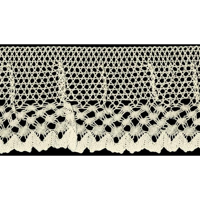 Dentelle au fuseau elastique coton    70mm