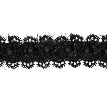 Galon guipure rayonne avec perles    25mm