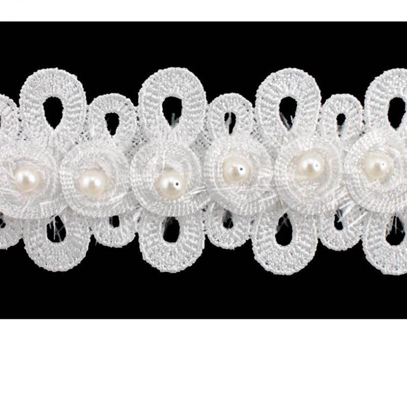 Galon guipure rayonne avec perles    45mm