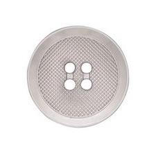 Boutons métal plat 4 trous nickel free   15mm à 28mm