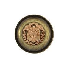 Boutons métal écusson à pied   18mm à 26mm
