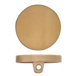 Bouton métal plat à pied nickel free    8mm à 28mm