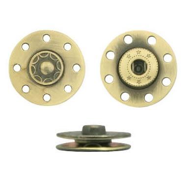 Bouton pression métal laiton & zamac     13mm
