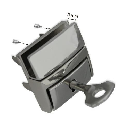 Clip de sac à verrou + clé zamak nickel free   33x29mm