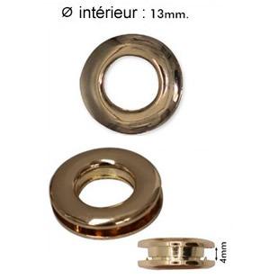 Anneaux à clipser métal    025