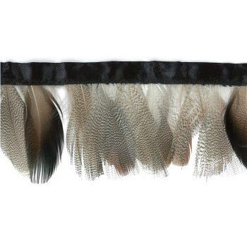Galon à frange plumes de pintade   70mm
