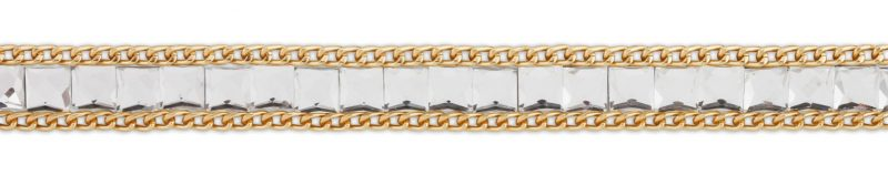 Galons thermo cristal et chaine   10mm