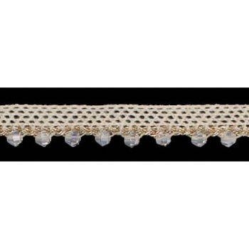 Galon dentelle metallisé pierres  ref 858177   10mm