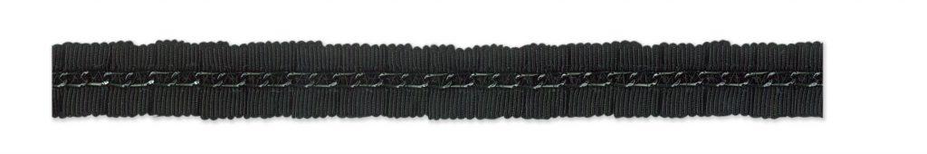 Galon gros grain plissé chaine    15mm