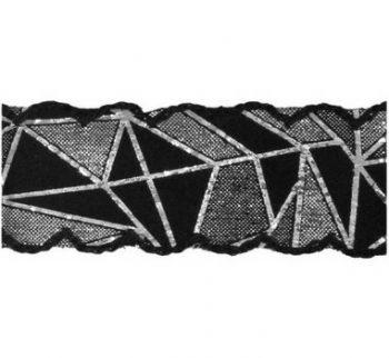 Galon laser géometrique métallisé    28mm à 45mm