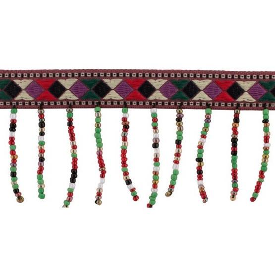 Franges perlées ethnique   50mm