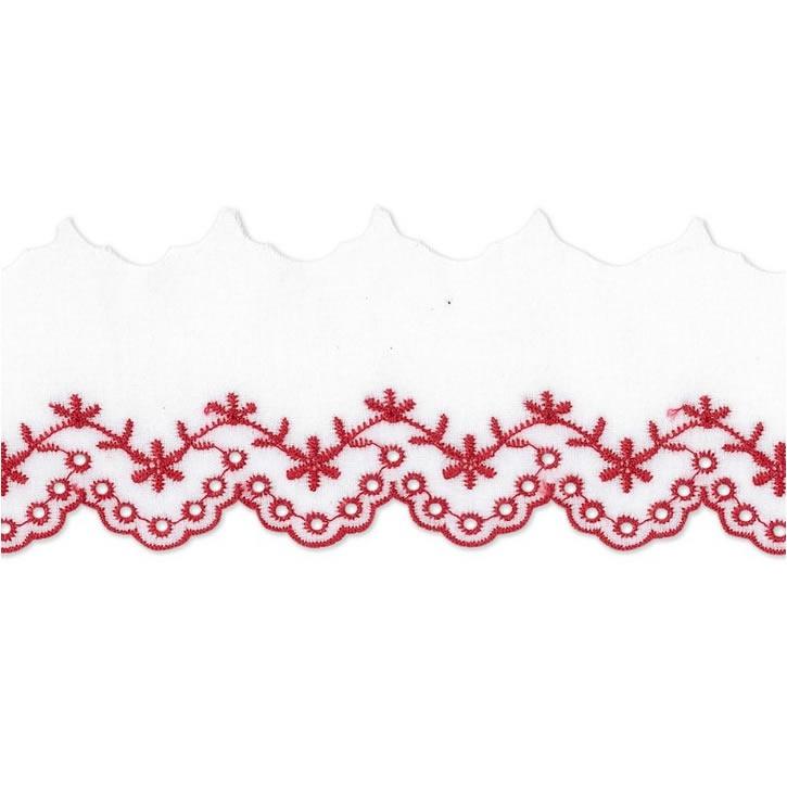 Dentelle brodée coton   60mm
