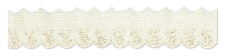 Broderie anglaise motif fleur   15mm