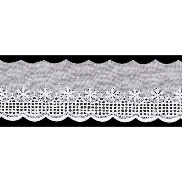 Broderie anglaise ajourée coton   40mm