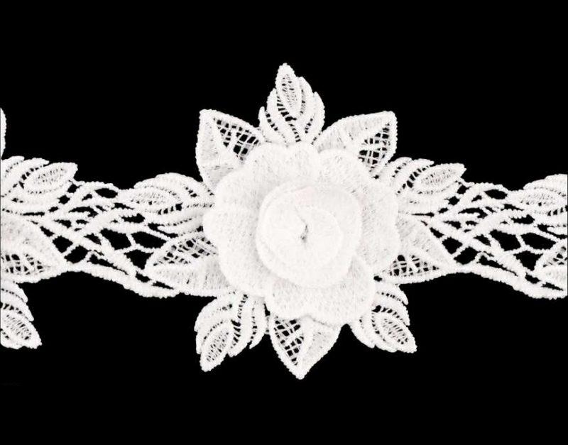Fleur guipure thermocollante  95mm