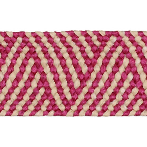 Sangle tresse élastique jute 45mm