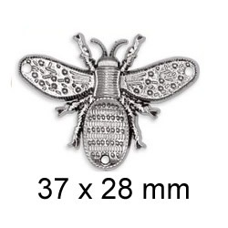 Broche abeille strass