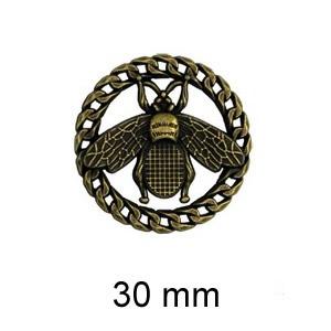 Broche métal abeille