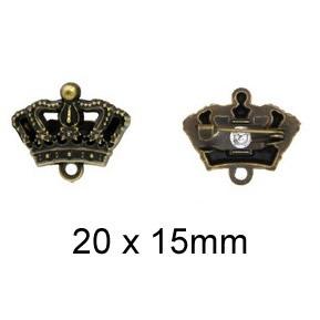 Broche métal couronne