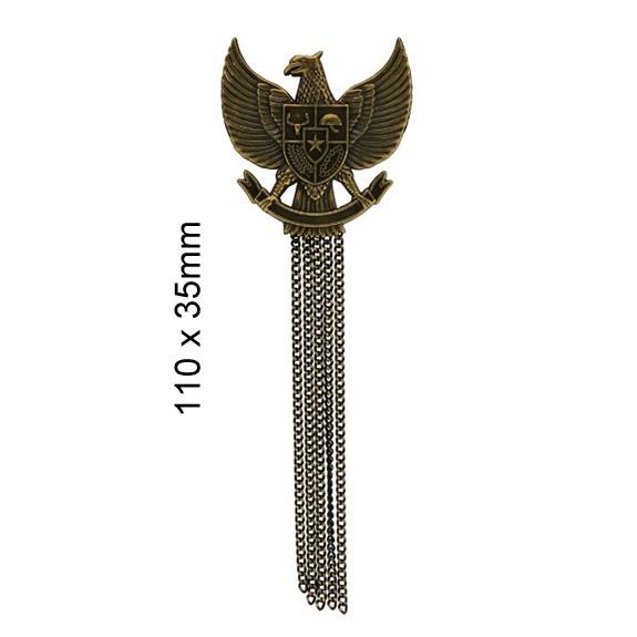 Broche métal aigle avec franges