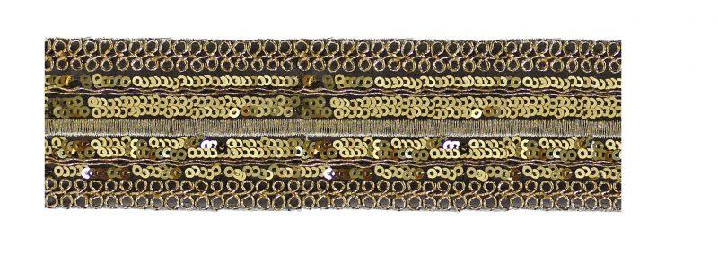 Galon brodé metalisé avec paillette    45mm