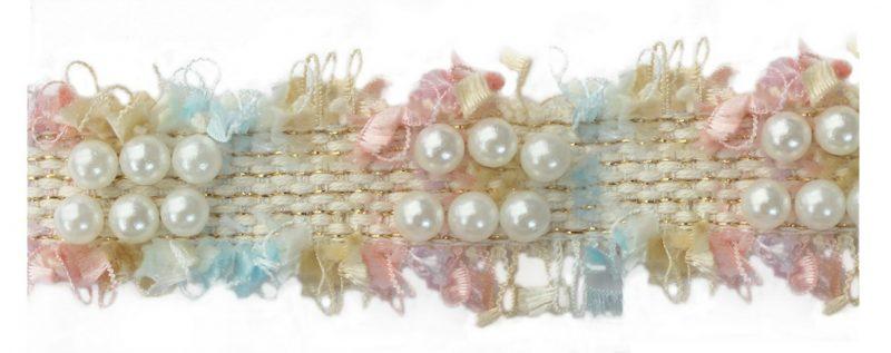 Galon style coco avec perles    30mm