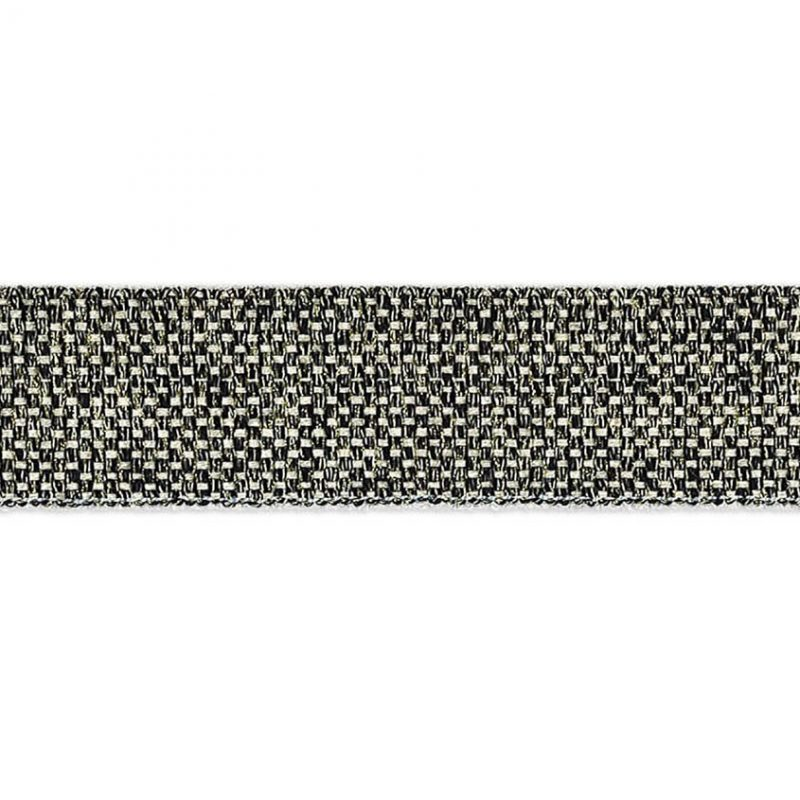 Galon passementerie damier métallisé   30mm