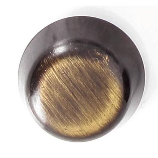 Bouton à pied métal poin epais 15mm à 25mm