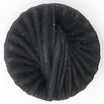 Bouton à pied noir mat drape. 12mm à 27mm