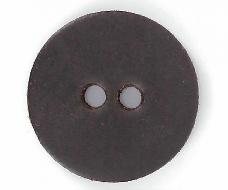 Bouton 2 trous pion cuir 42mm à 50mm