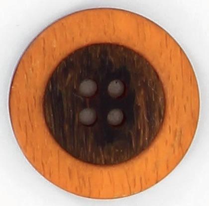 Bouton 4 trous centre noir bord 15mm à 27mm