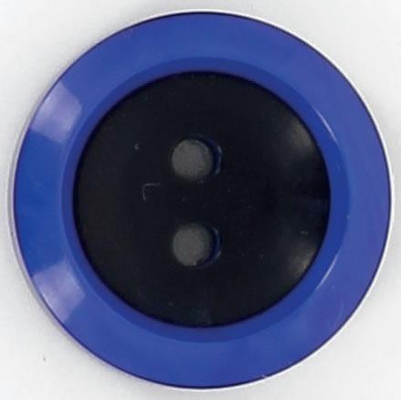 Boutons 2 trous cuvette centre noir bord rond 15mm à 25mm