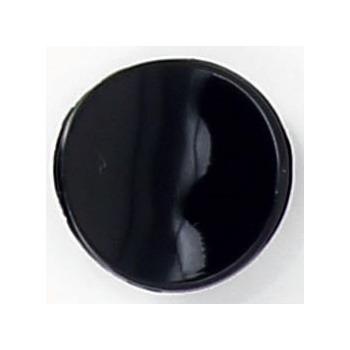 Bouton à pied incurve pastille noir 12mm à 15mm