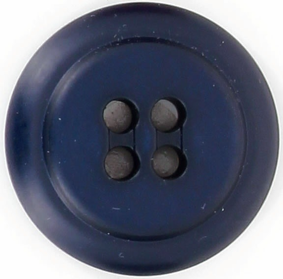 Bouton 4 trous pion epais bord rond vernis 22mm à 35mm