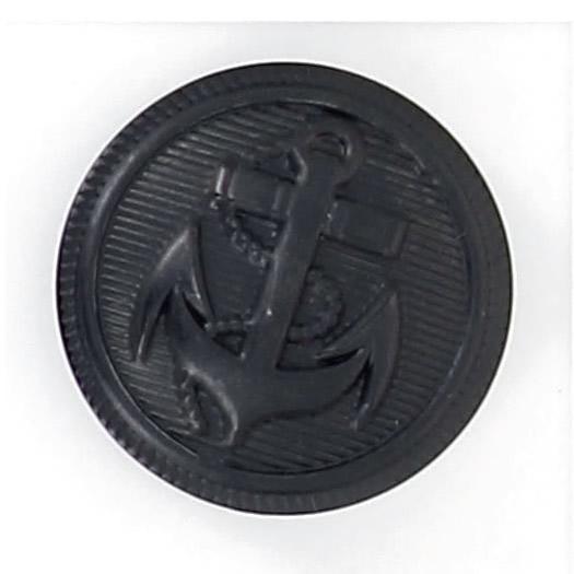 Bouton à pied métal ancre marine 15mm à 25mm