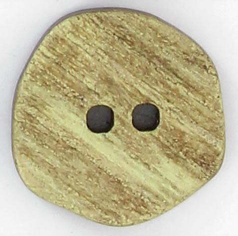 Bouton 2 trous facon corne: 36mm à 27mm