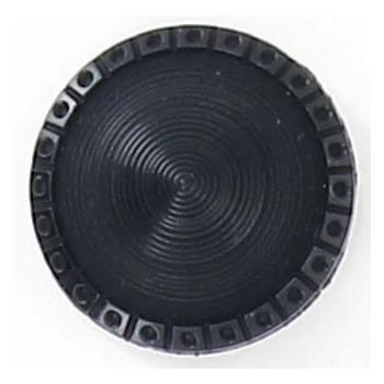 Bouton à pieds conique mat bord brillant 12mm à 22mm